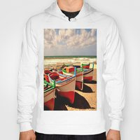 boats Hoodies featuring boats by  Agostino Lo Coco
