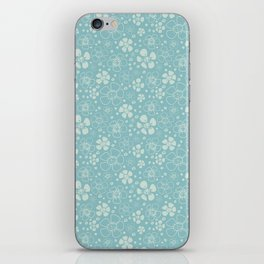 Baby Blue Floral iPhone Skin