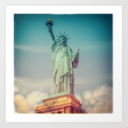 The Statue of Liberty - Polaroid and Bokehs Art Print
