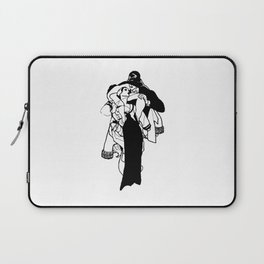 All Wounds Heal Time bw Laptop Sleeve