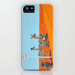 Aussie Outback Bus Stop iPhone Case