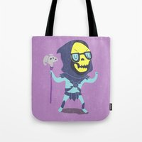 skeletor Tote Bags featuring Skeletor by Rod Perich