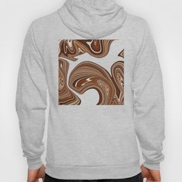 Bold Copper Agate Stone Effect Design Hoody
