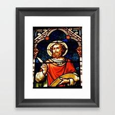 Saintly Glass Framed Art Print