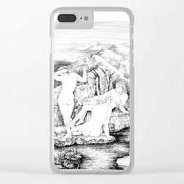 3 women bathing Clear iPhone Case