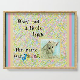 Mary Had a Little Lamb Serving Tray