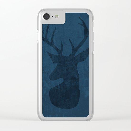 Blue Deer Design Clear iPhone Case