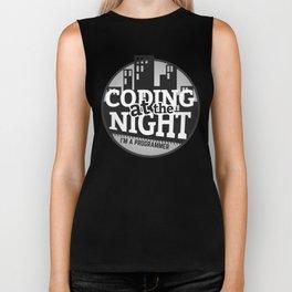 Programmer - Coding at the night Biker Tank