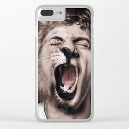 Animorph-Lion Clear iPhone Case