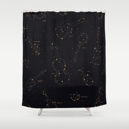 Heavens Music Shower Curtain