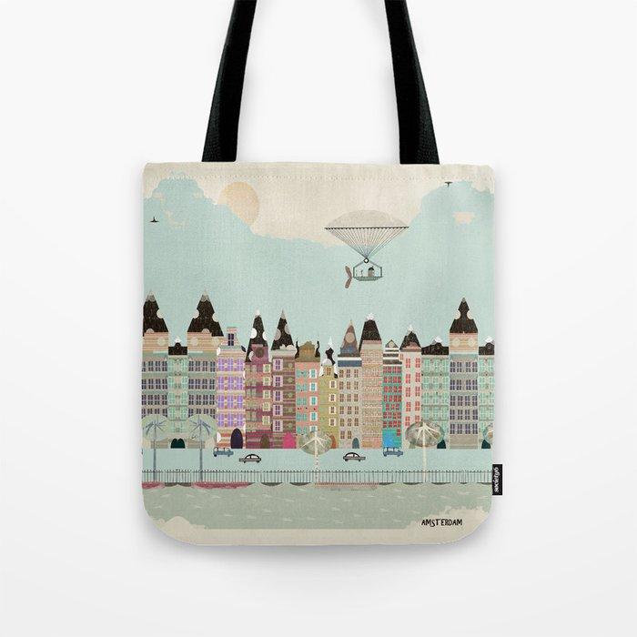 Visit Amsterdam Tote Bag