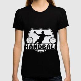 Handball Ball Sports Handball Player Jump Shot T-shirt