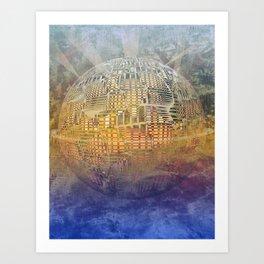 Atlante 11-06-16 / SUBAQUATIC - AERIAL Art Print