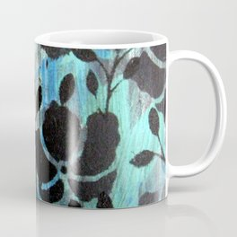 Black stencils flowers Coffee Mug
