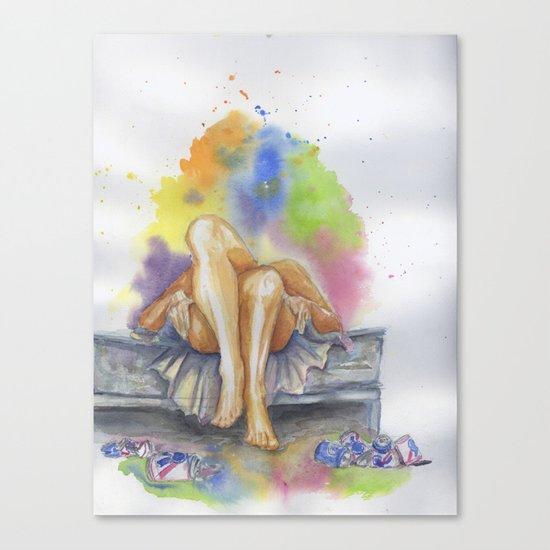 Last Night is a Blur Canvas Print