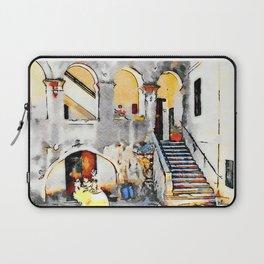 Tortora: courtyard with open gallery Laptop Sleeve