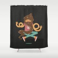 zen Shower Curtains featuring Zen by carvalhostuff