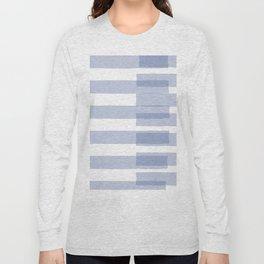 Big Stripes in Light Blue Long Sleeve T-shirt