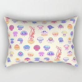 Jellyfish Day - pastel Rectangular Pillow