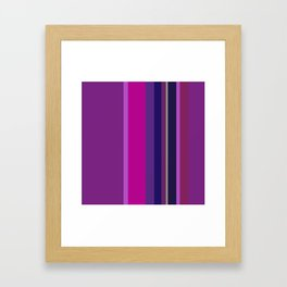 Spring collection - Orchid - Strips Framed Art Print