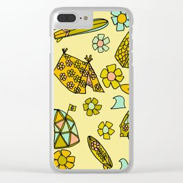 wanderlust // dream homes among the waves // surfy birdy art Clear iPhone Case
