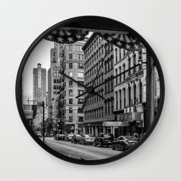 Early morning in TriBeCa of Lower Manhattan in New York City Wall Clock