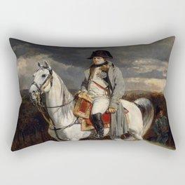 Napoleon Bonaparte On Horseback Rectangular Pillow