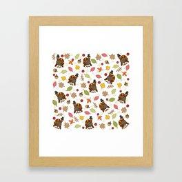 Thanksgiving Turkey pattern Framed Art Print