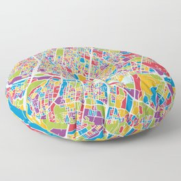 Austin Texas City Map Floor Pillow