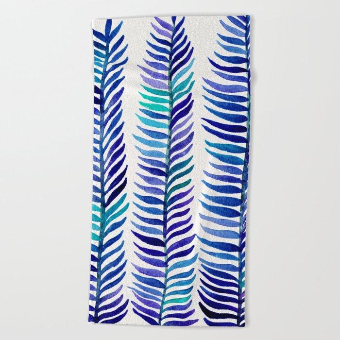 Indigo Seaweed Beach Towel