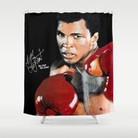 ali Shower Curtains featuring ALI 4 by YBYG
