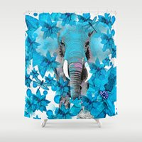 elephant Shower Curtains featuring Elephant  by Saundra Myles