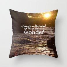 presence of wonder. Throw Pillow