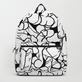 Schlong Song, Black and White Backpack