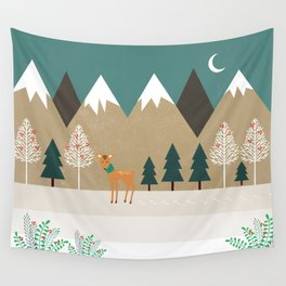 Hello winter Wall Tapestry