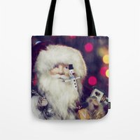 santa Tote Bags featuring Santa by ThePhotoGuyDarren