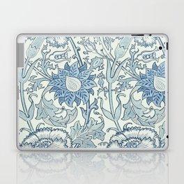 William Morris Beautiful floral pattern, blue,rose,william Morris pattern, art nouveau pattern Laptop & iPad Skin