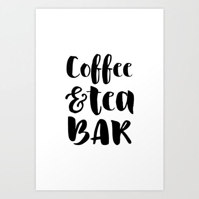 Coffee and tea bar Kunstdrucke