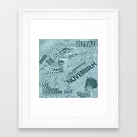 college Framed Art Prints featuring college  by MadCat