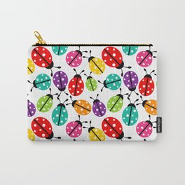 Lots of Crayon Colored Ladybugs Carry-All Pouch