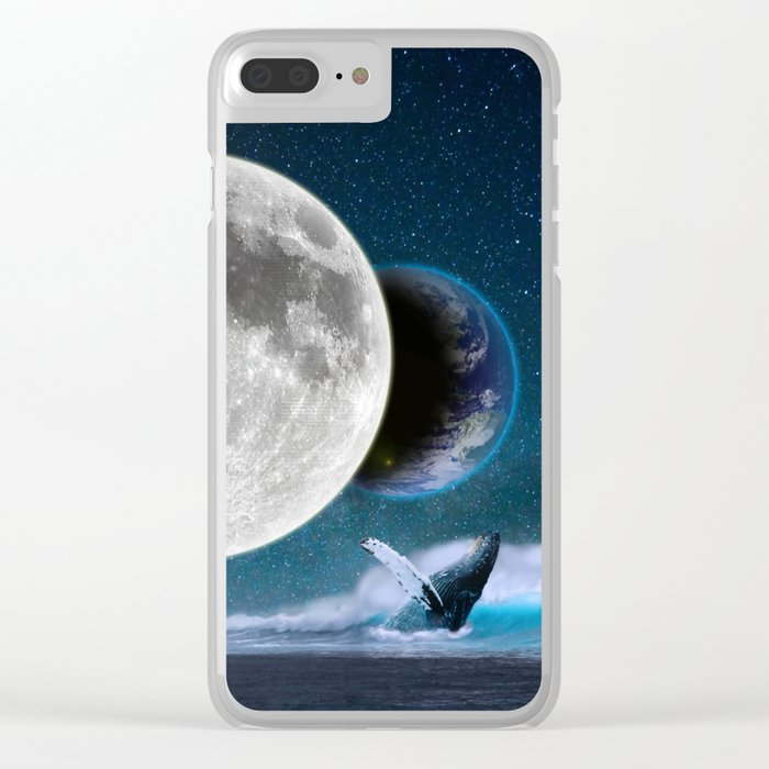 Blue Whale by GEN Z Clear iPhone Case