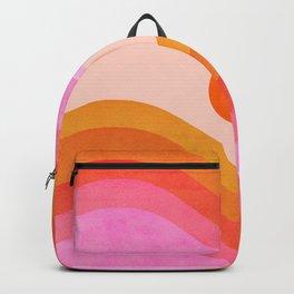 Abstraction_SUNSET_OCEAN_COLOR_POP_ART_Minimalism_009D Backpack