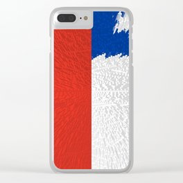 Extruded Flag of Chile Clear iPhone Case