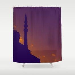 Purple Mosque Shower Curtain