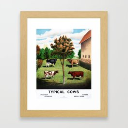 Typical Cows Framed Art Print