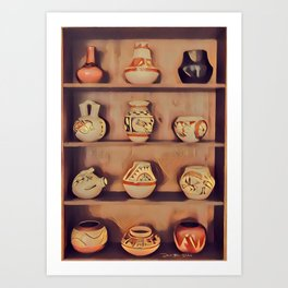 Indian Cupboard - Graphic 2 Art Print