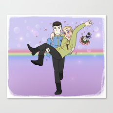 New Frontiers - Kirk and Spock Canvas Print