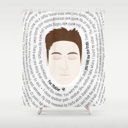 Fox Mulder - XF Quotes Shower Curtain