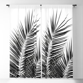 Black Palm Leaves Dream - Cali Summer Vibes #1 #tropical #decor #art #society6 Blackout Curtain