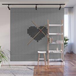 Original Knitted Heart Design Wall Mural